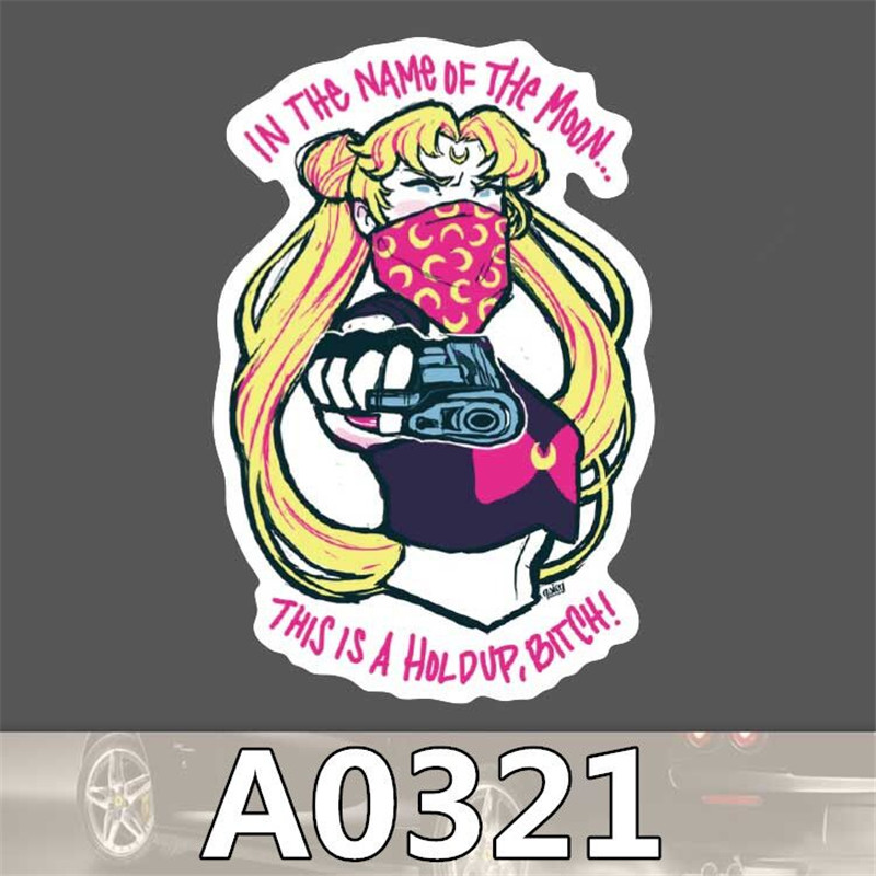 A0321 Spoof Anime Punk Cool Sticker for Car Laptop Suitcase Fridge Skateboard Graffiti Notebook Scrapbook Bike Stickers Kid Toy