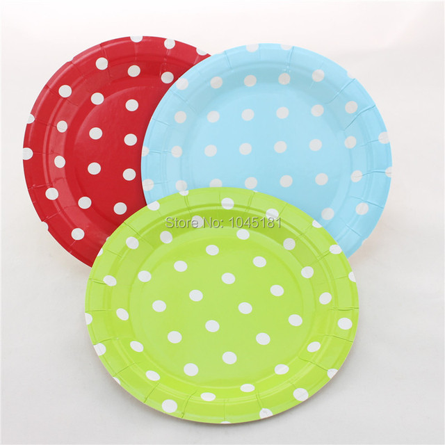 ipalmay 12pcs/pack Christmas Party Decor Polka dot Plates 7 inch Party Paper Plates for  sc 1 st  AliExpress.com & ipalmay 12pcs/pack Christmas Party Decor Polka dot Plates 7 inch ...