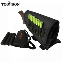 Tourbon Left Hand Hunting Butt Stock Sniper Rifle Ammo Cheek Rest Black Neoprene For Hunting Gun