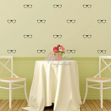 Glasses Wall Sticker Pattern Decal DIY Modern Kids Room Decors Cut Vinyl Stickers P17