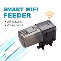 Auto Fish Feeder Aquarium Feeder WiFi Remote Intelligent Control USB Fish Feeder Aquarium Feeding Machine Feeder Pet Supplies