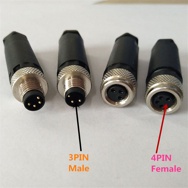 1PCS SS028 <font><b>M8</b></font> waterproof aviation <font><b>plug</b></font> female/male 3PIN 4PIN sensor encoder connector screw fixation non-welding image