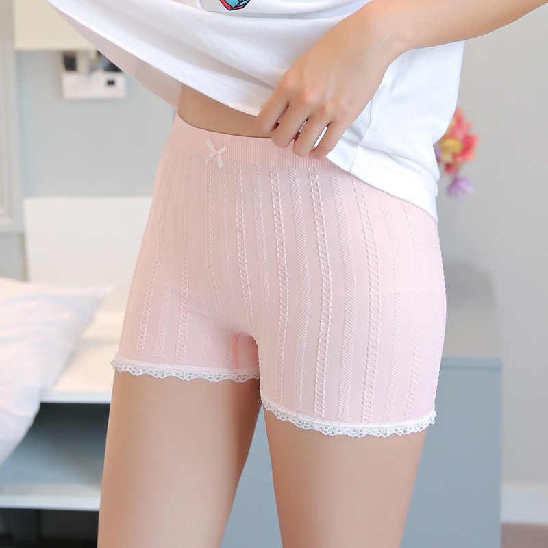ผู้หญิงกางเกง Plus ขนาด Strong ยืดชุดชั้นในสั้นกางเกงชายกางเกงนักมวย Sexy Lace Breathable กางเกงขาสั้นกางเกงขาสั้นกางเกงขาสั้น