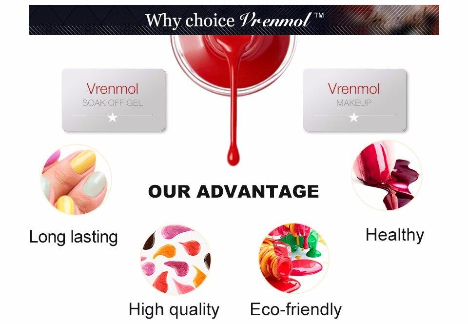 Vrenmol, 1 шт., меняющий цвет, замачиваемый УФ-гель, цвета, лак Verniz, Термальный, меняющий настроение, Гель-лак для ногтей