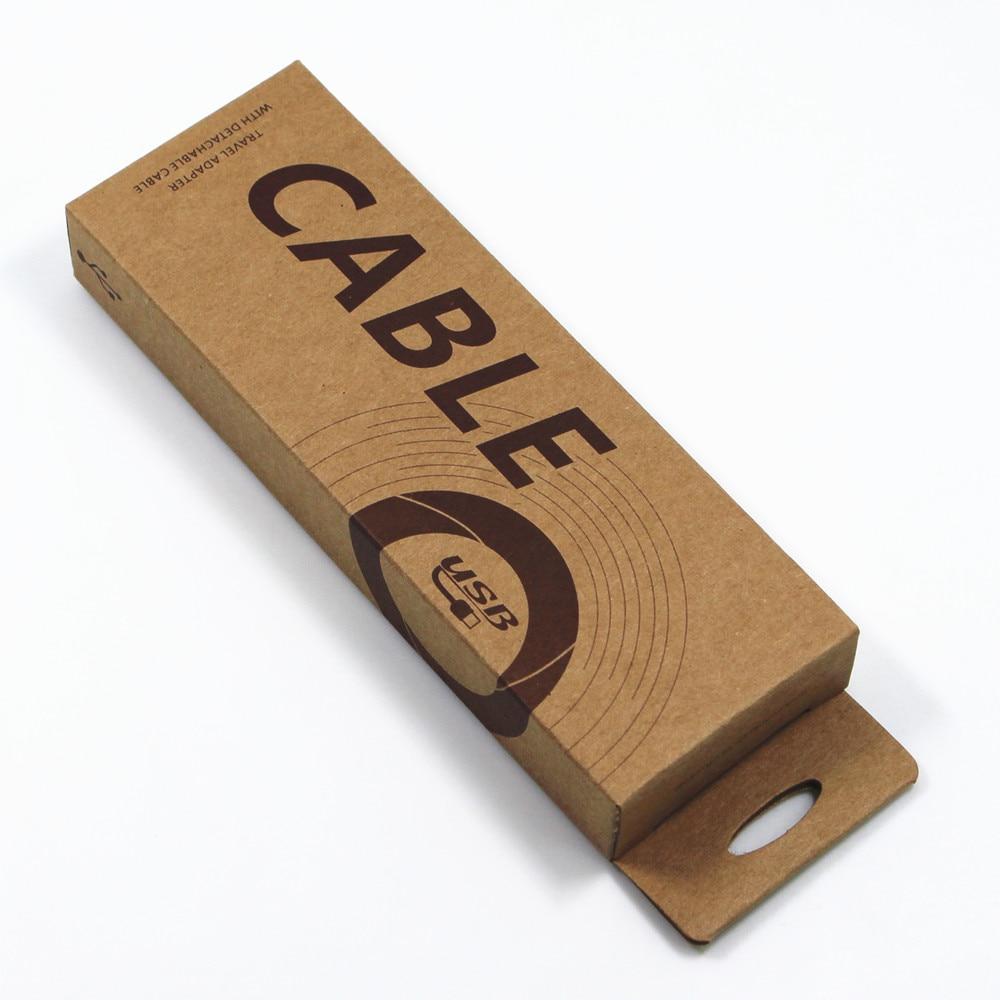 60 шт./лот 5*14.5*2 см Крафт-Бумага мобильный телефон Дата линии Коробки для упаковки USB кабель бутик коричневый Бумага коробка с повесить отверс...