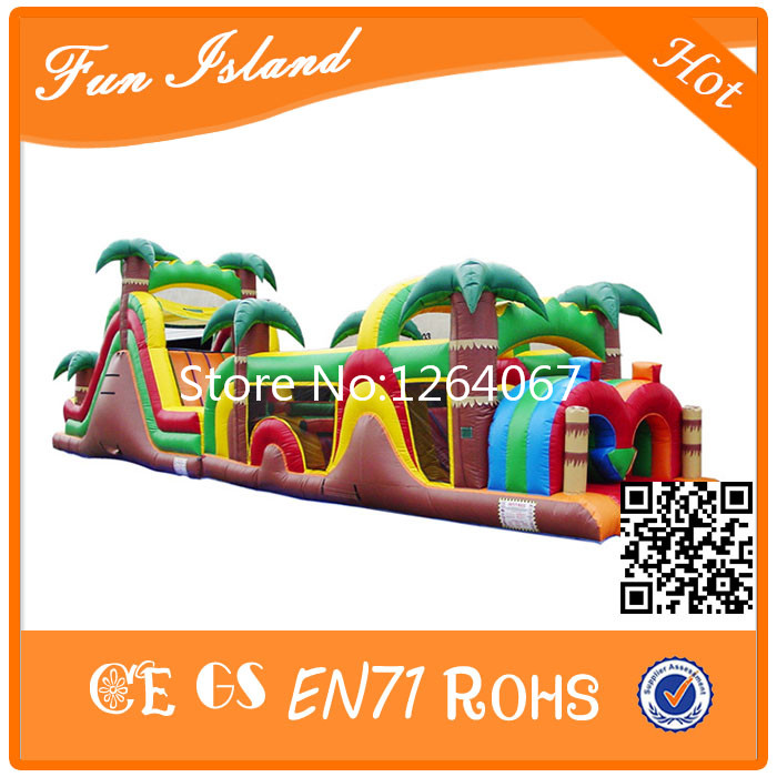 Commercial Garde Jungle Theme Inflatable Obstacle/ Obstacle Course/Inflatable Combo Obstacle free sea shipping inflatable slide jumper combo bouncer obstacle course