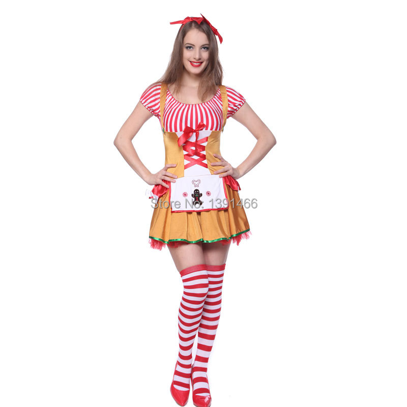 Miss Gingerbread Costume Gingerbread men Ginger man Ladies Fancy Dress-in Sexy Costumes from Novelty u0026 Special Use on Aliexpress.com | Alibaba Group  sc 1 st  AliExpress.com & Miss Gingerbread Costume Gingerbread men Ginger man Ladies Fancy ...