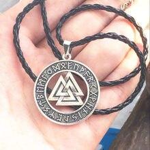 1aaaa1e62d18 Eslavo Noruega Valknut amuleto pagano colgante hombres collar joyería  vikinga escandinava Odín símbolo del guerrero vikingo Nórd..