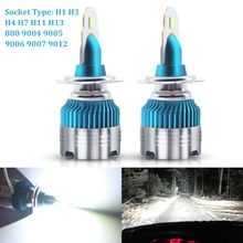 цена на Car LED Headlight H4 H7 LED H1 H3 H11 H13 880 9004 9005 9006 9007 9012 LED Bulb CSP Y19 chips Hi-Lo Beam Car Headlight Fog Lamp