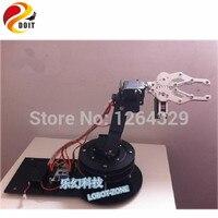 DOIT 5dof Robot Arm+Mechanical Claw +5PCS High Torque Servos(Metal gear)+Large Metal Base+Thicker All Metal Plate/Robot