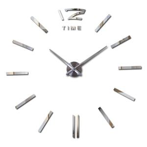 new arrival Quartz clocks Brief watches 3d real big wall clock rushed mirror stickers diy living room DISCOUNTS Still life(China)
