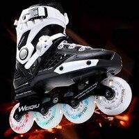 Multi Farben Professionelle Skates Schuhe Unsex Phantasie einreihige Roller Inline Universal Skating Rink