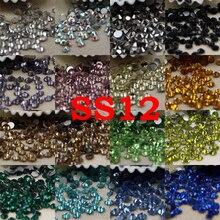 SS16/4MM  25Colors 1440pcs Strass Nail Art Glass Nail Stones Non Hotfix Flatback Glue On Nail Crystals Rhinestones For Nails