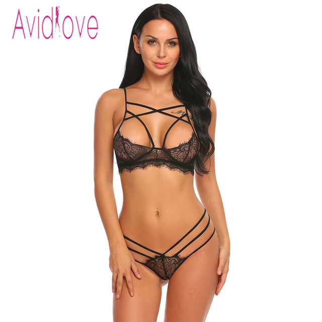 Avidlove Open Bra Crotch Erotic Lingerie Set Lace Nightgowns Sexy Bra Panty Womans Lingerie And Exotic Bra Sets Sex Products
