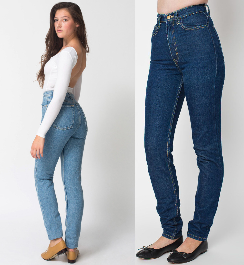 Womens blue high waisted jeans – Global fashion jeans models