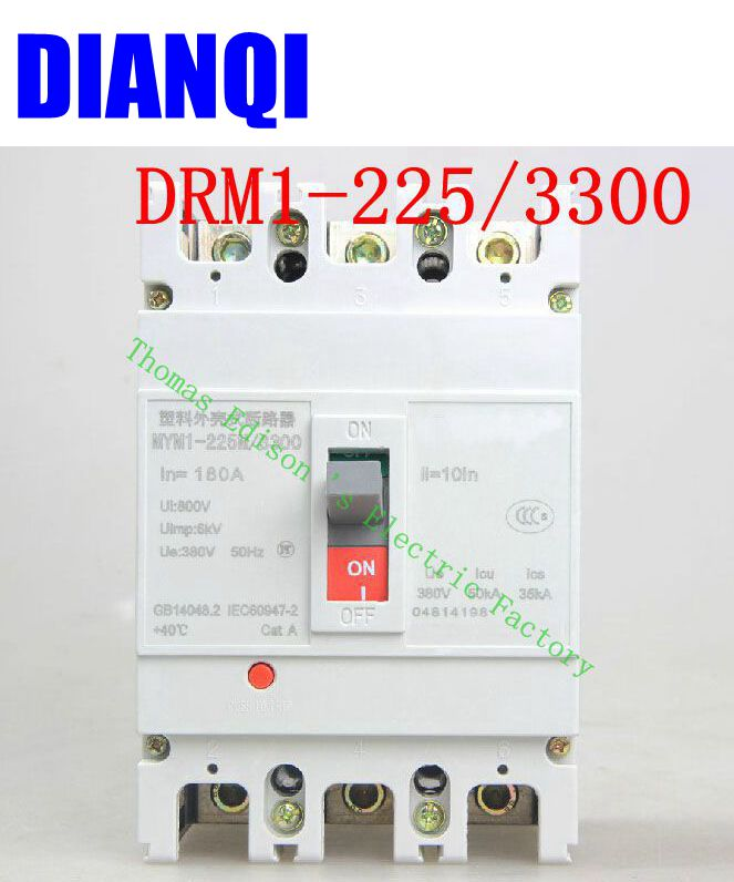 CM1-225/3300 MCCB 100A 125A 160A 180A 200A 225A molded case circuit breaker CM1-225 Moulded Case Circuit Breaker molded case circuit breaker mccb air switch dz20y 400 3300 315a 3p variety of current optional