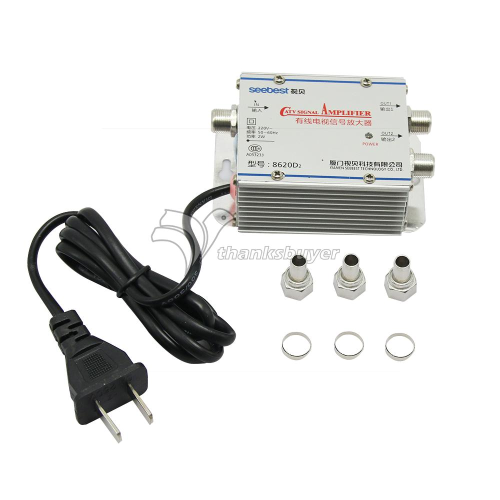 Cable Tv Signal Splitters : Seebest sb d cable tv signal amplifier splitter