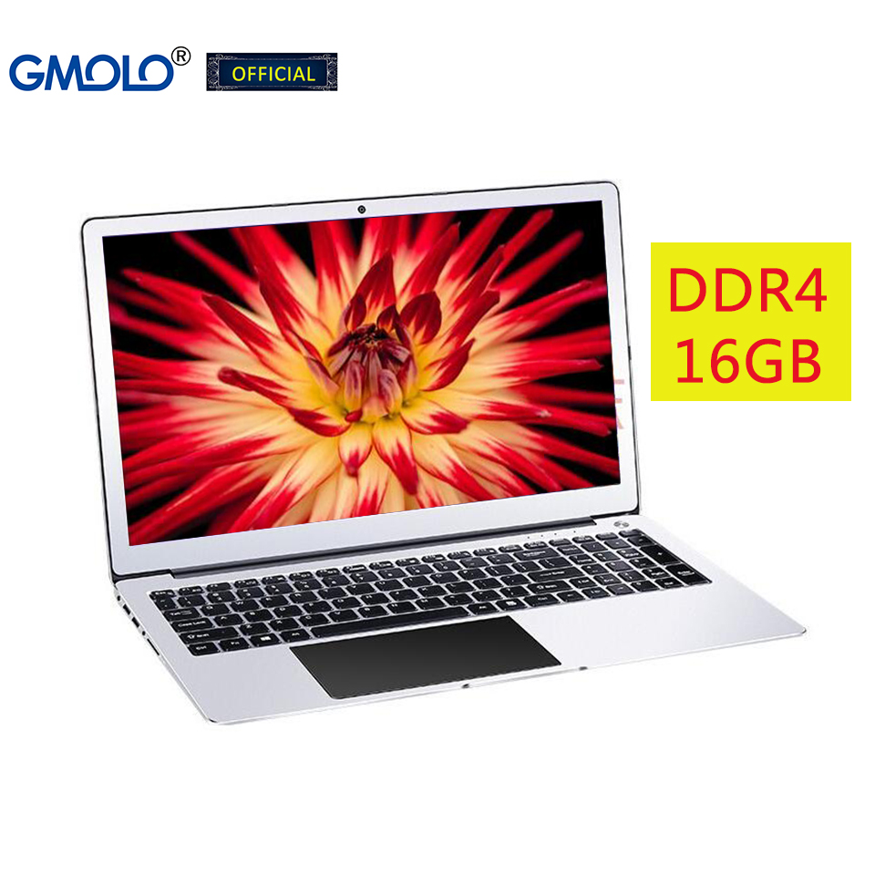 GMOLO 15.6 gaming laptop computer 16GB DDR4 RAM 512GB SSD + 1TB Intel I7 / I5 8th Generation quad core CPU metal notebook PC 1