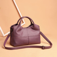 Hot Sale High Quality Fashion Patchwork Ladies Shoulder CrossBody Bags Women's Genuine Leather Handbags Soft Leather Women Bags