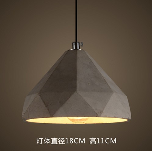 industrial style home lighting. loft style cement droplight industrial vintage pendant light fixtures for dining room led hanging lamp home lighting l