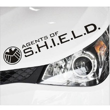 цена на Car Stickers AGENTS of SHIELD Avengers Decals For Rearview Mirrors Auto Styling Cyter Waterproof black and white
