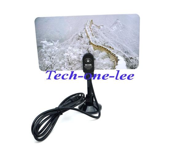 5 Piece/lot HD/DTV/UHF/VHF/FM Digital Indoor TV Antenna With Sucker Gain 35dBI Free Shipping