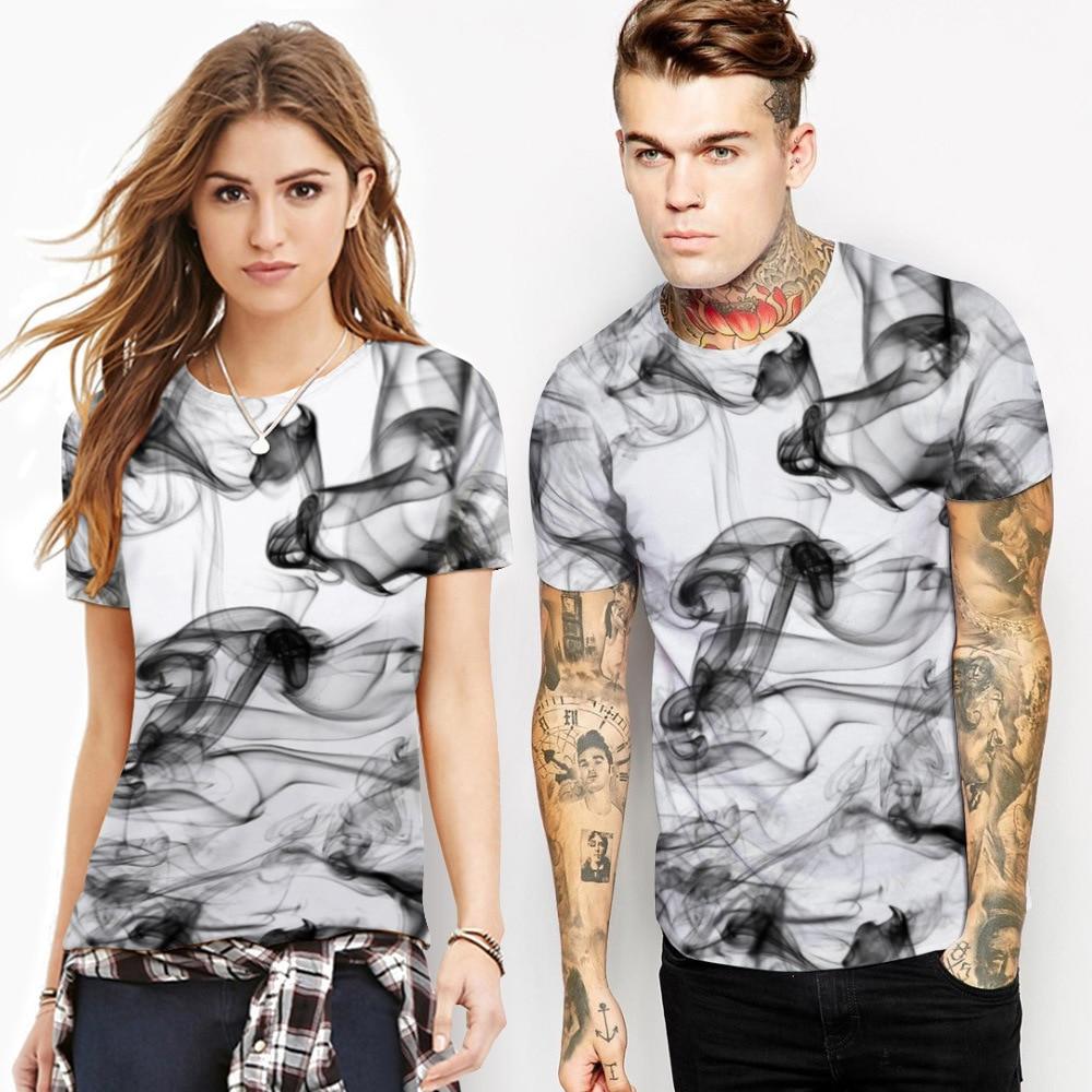 New Fashion Men/Women 3d T-shirts Print Watercolor Dreamy Smoke Lines Summer Cool Street Hip Hop Tees Shirts T shirt