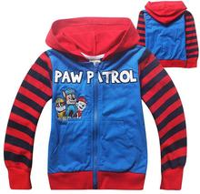 2016 puppy dog patrol times child outerwear coat winter clothing children's paw long design fashion jackets to 3 – 7 years old
