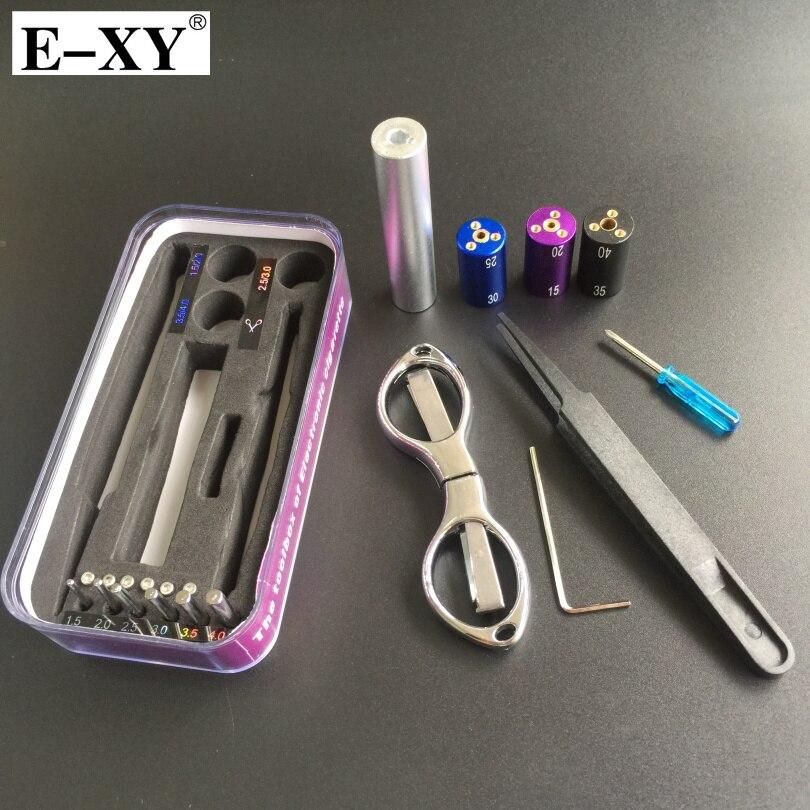 E-XY New Magic Stick CW Kit Formato 6 in 1 Bobina di Avvolgimento Jig Avvolgitore Filo di Riscaldamento Stoppino Strumento Per Il FAI DA TE RDA RBA Atomizzatore mod