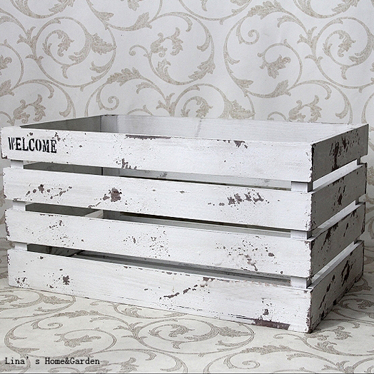 Quot Welcome Quot Distressed Chalk White 4 Panels Solid Fir Wood