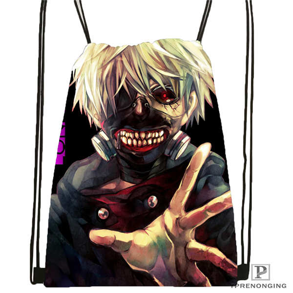 Custom Tokyo_ghoul_  Drawstring Backpack Bag Cute Daypack Kids Satchel (Black Back) 31x40cm#20180611-02-100