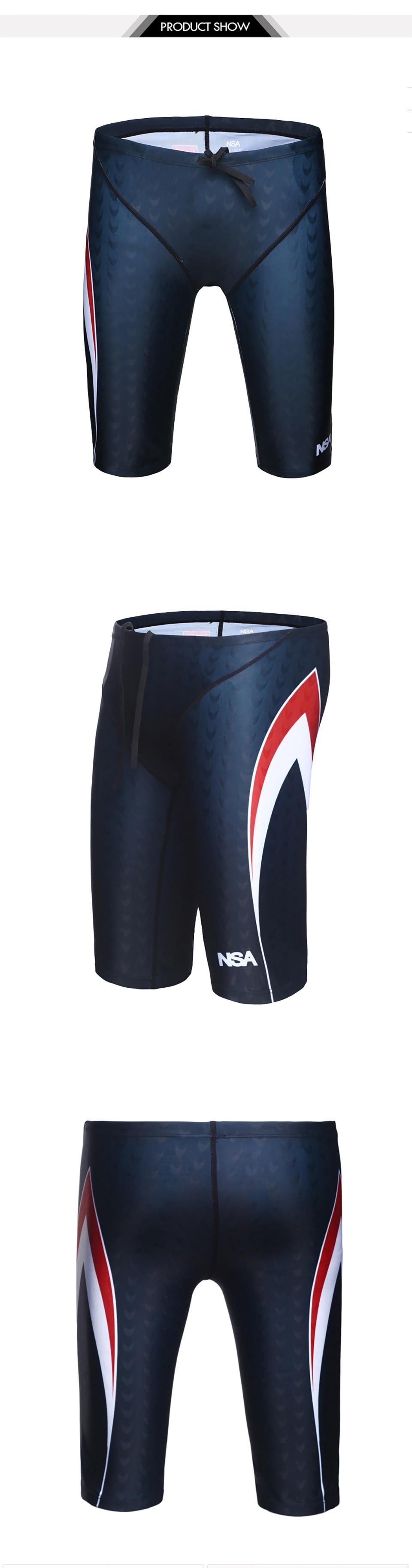 fb9db9393292 NSA Men Professional Swimming Briefs Sharkskin Underwear Trunks Swimwear  Plus Size 5XL Bathing Suit Mens Swimsuit Beachwear