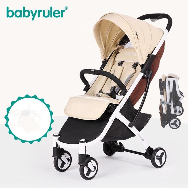 Four-Wheel Can Sit Lie Babyruler Baby Stroller Aluminum Alloy Cart