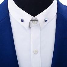 Мужская рубашка savoyshi французская брошь на воротник металлическая