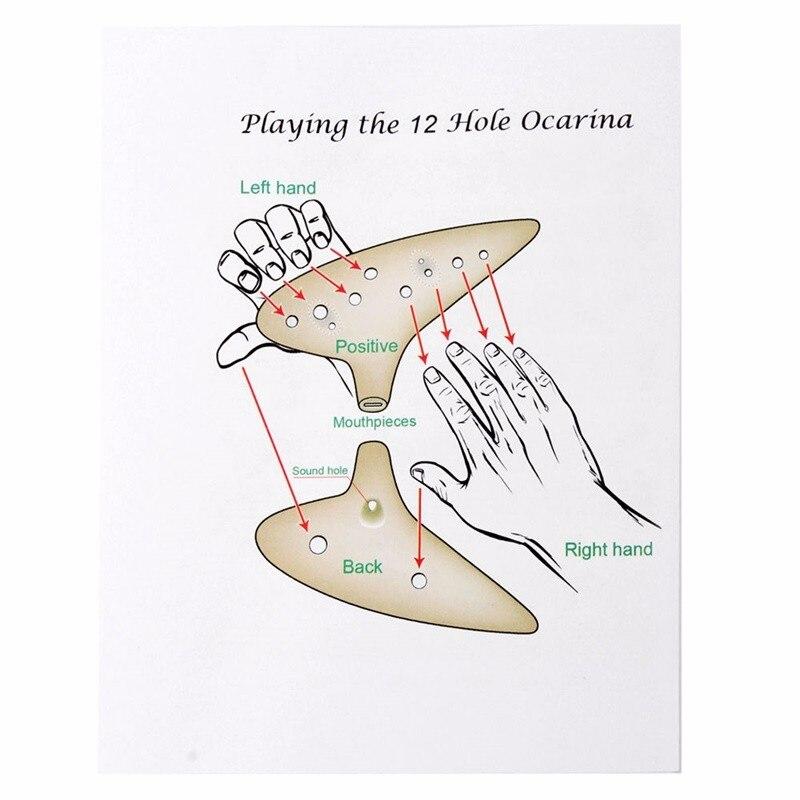 Flaut ceramic 5 culori 12 găuri ceramică arsă în cuptor C înalt - Instrumente muzicale - Fotografie 5