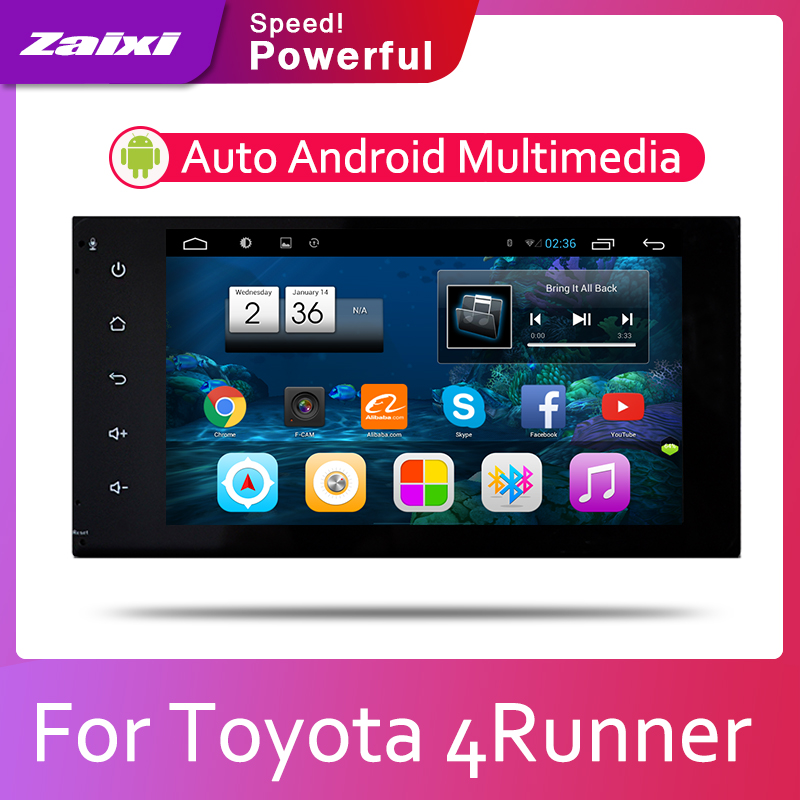 ZaiXi Android 2 Din Car radio Multimedia Video Player auto Stereo GPS MAP For <font><b>Toyota</b></font> <font><b>4Runner</b></font> SW4 2002~2009 Media Navi Navigation image
