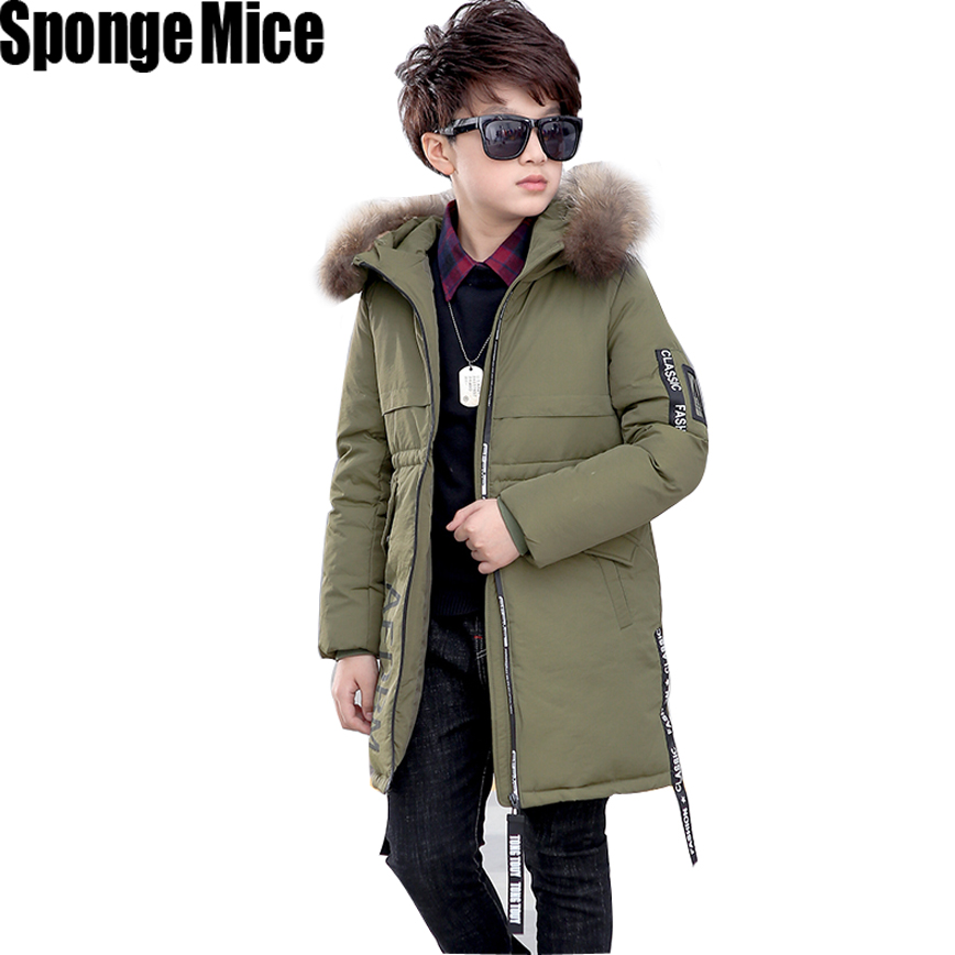 Kids Clothes Baby Boys Jackets Winter Coat Hooded Thick Warm Children Boys Clothing Fashion Fur Collar Suit Infant Boys boys fleece jackets solid coat kid clothes winter coats 2017 fashion children clothing
