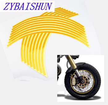 18 Car Modeling Reflective Wheel 16 Car Tape Accessories 5 Color for Toyota Camry Corolla RAV4 Yaris Highlander/Land Cruiser image