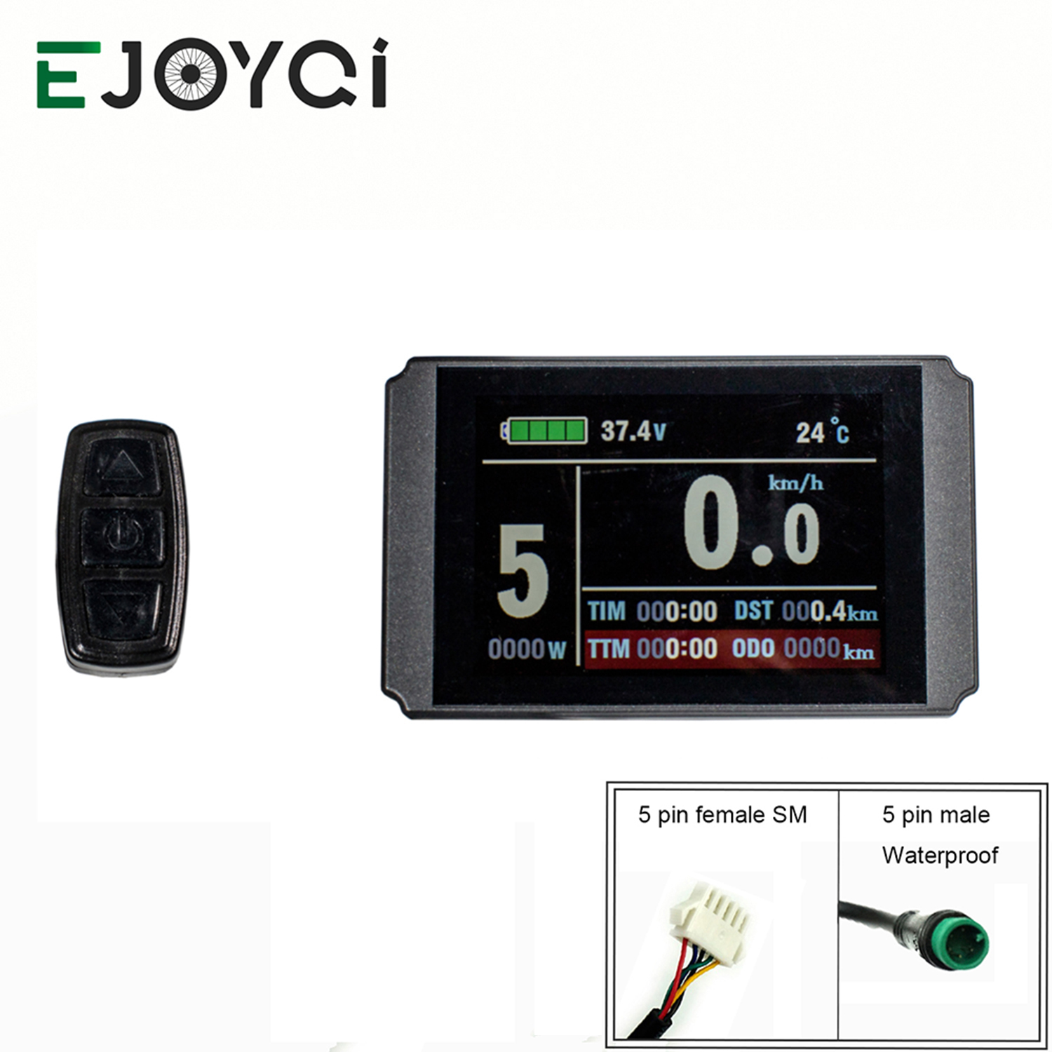 EJOYQI KT Ebike LCD8H Display 24V 36V 48V USB SM Waterproof Connector Electric Bicycle Accessories E-Bike LCD Display(China)