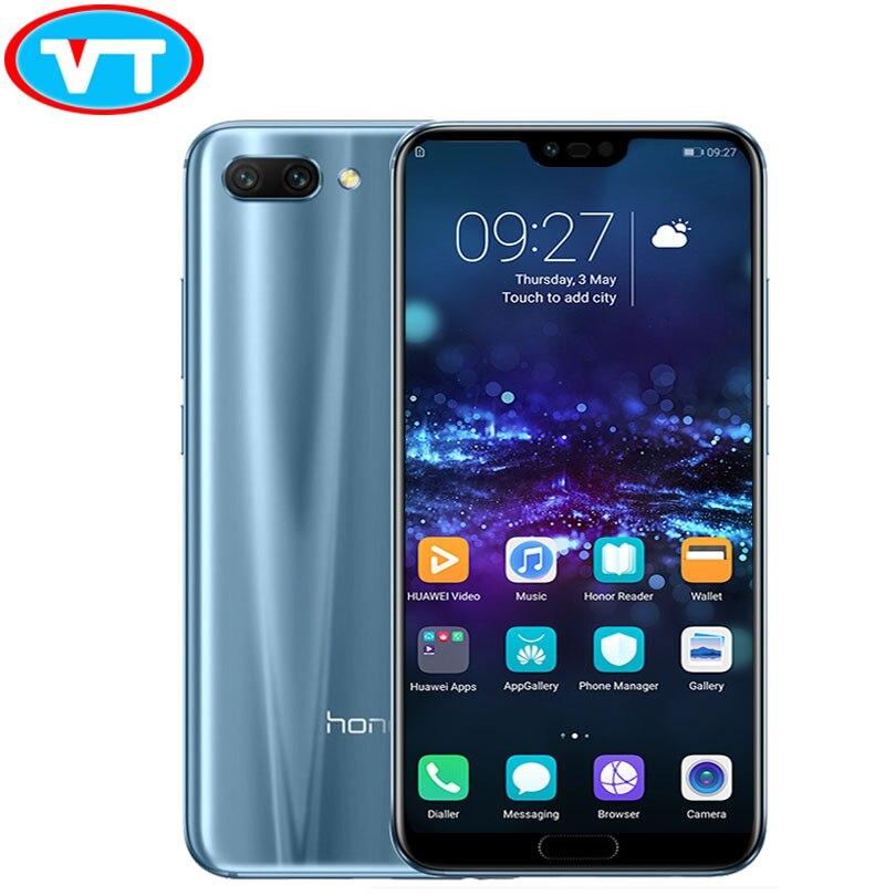 В наличии huawei Honor 10 4 ГБ 6 оперативная память Kirin 970 octa core 19:9 полный экран 5,84 дюймов 24.0mp AI камера телефона faceID bluetooth