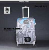 Travel tale personality cartoon graffiti 20/24/28 Inch children Rolling Luggage Spinner brand Travel Suitcase Suitable