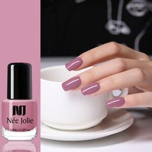 Image 5 - NEE JOLIE 8ml lakier do paznokci różowy szary seria kawy szybkoschnące lakier do paznokci 72 zwykłe kolory na lato zdobienie paznokci dekoracje