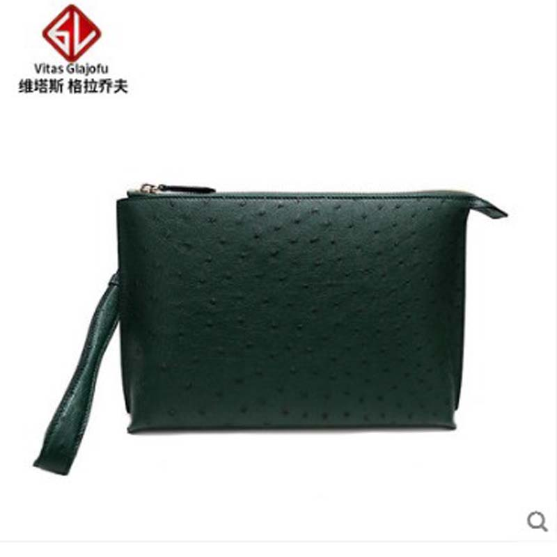 weitasi Ostrich skin lady hand bag leisure envelope bag without stitching manufacturers direct sales