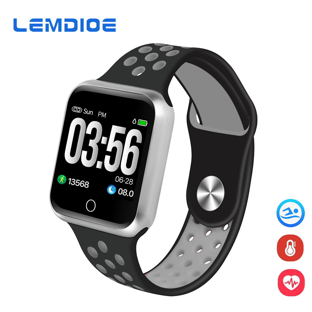 LEMDIOE Smart Watch Men Women Multi Sport Modes Heart Rate Blood Pressure Monitor 15 days Standby Smartwatch For iOS Android lemdioe smart watch ip68 waterproof for men heart rate monitor multi sport mode bluetooth call smartwatch for android ios phone