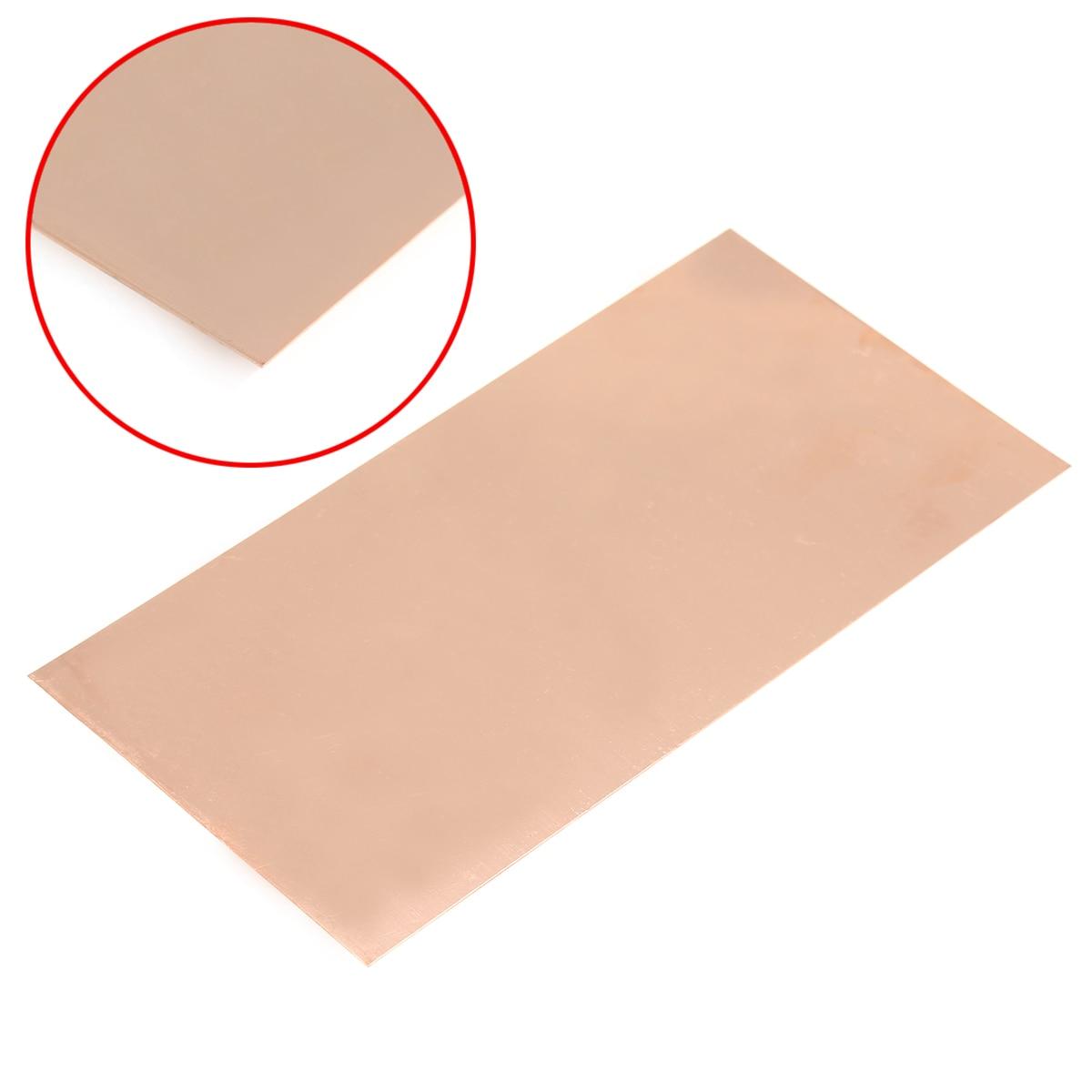 DWZ 1pc 99.9% Pure Copper Cu Metal Sheet Plate Foil Panel 100*200*0.5MM 1pc high purity copper plate cu metal foil sheet 0 1x200x1000mm best price for power tool accessories