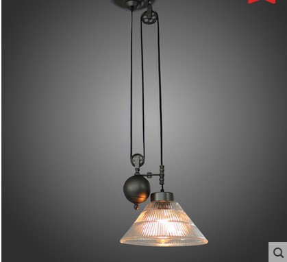 Iwhd retro loft style vintage industrial pulley pendant light lamp iwhd retro loft style vintage industrial pulley pendant light lamp in glass shade lustres de sala aloadofball Image collections
