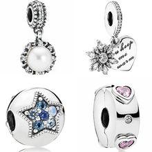 60c20277881b Nueva moda europea de cristal colgante de cuentas clave pequeño vaso perlas  simuladas granos de los encantos de Pandora pulseras.