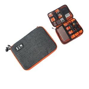 Image 4 - waterproof Ipad organizer USB data cable earphone wire pen power bank travel storage box kit case digital gadget devices