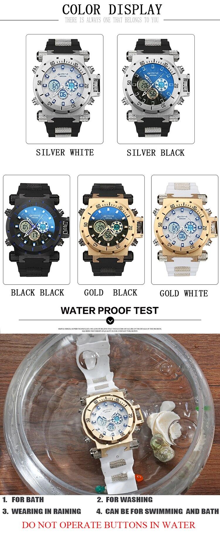 digital à prova dwaterproof água relógio de