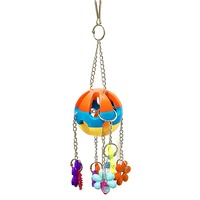 Multicolor Parrot Toys Non-toxic Parrot Acrylic Chew Toys Cage Swing Hanging Play   Bird   Toys Pet   Bird     Supplies
